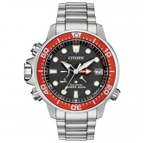 Citizen Mens Promaster Aqualand Eco-Drive Watch - Silver-Tone Stainless Steel Bracelet Front View