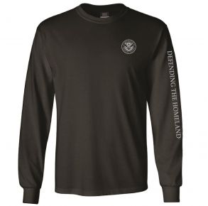 DHS Mens Classic Long Sleeve T-Shirt Front View