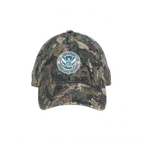 DHS Twill Cap - Camouflage Front View