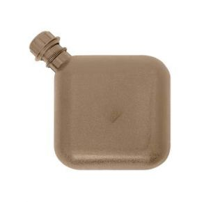 Rothco G.I. Bladder Canteen - Coyote Brown Front View