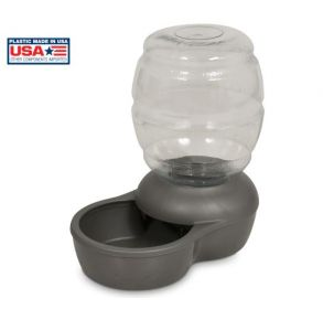 Petmate Replendish Waterer With Microban - Mason Silver - Size 1 Gallon Front View