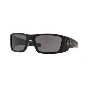 Oakley Fuel Cell Matte Black Frame - Prizm Gray Lens - Polarized Sunglasses Front Angled View