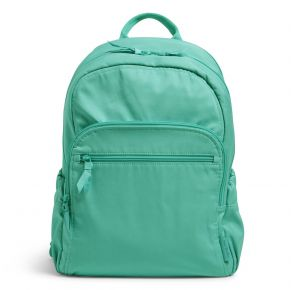 Vera Bradley Campus Backpack - Turquoise Sky Front View