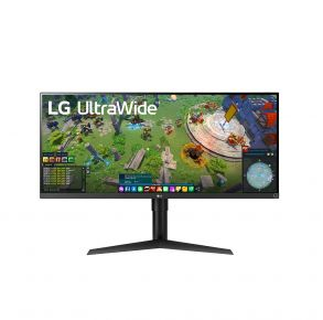 """LG 34"""" Monitor With USB Type-C - UltraWide FHD HDR FreeSync - Black Front View"""