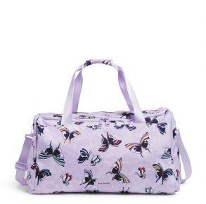 Vera Bradley Lavender Butterflies Large Travel Duffel Bag Front View