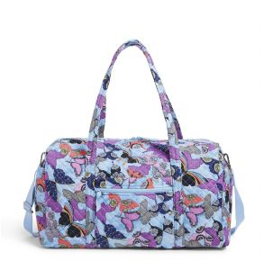 Vera Bradley Butterfly By Large Travel Duffel Bag Front View