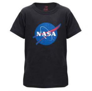 Rothco Kids NASA Meatball Logo Short Sleeve T-Shirt Front View