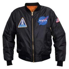 Rothco Mens NASA MA-1 Flight Jacket - Size S - XL Front View