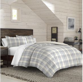 IZOD Port Clinton Comforter Set - Twin/Twin XL - Gray/Tan Lifestyle Angle View