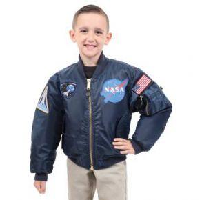 Rothco Kids NASA MA-1 Flight Jacket Front View