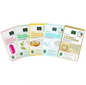 EARTH THERAPEUTICS Organic Collection - Essential Beauty Masks - 5 Pack Set Front View