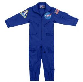 Rothco Kids NASA Flight Coveralls With Official NASA Patch Front View