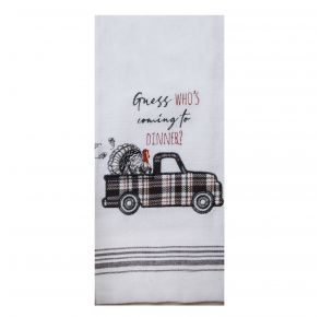 KAY DEE DESIGNS Kitchen Towel - Guess Who's Coming To Dinner? Front View