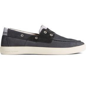 SPERRY Mens Outer Banks 2-Eye Suede Boat Shoe Right Side View