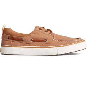 SPERRY Mens Bahama 3-Eye Salt Washed Canvas Sneaker Right Side View
