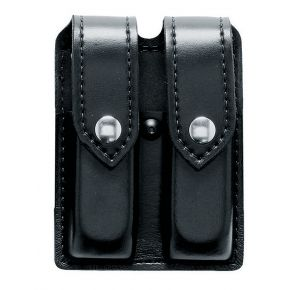 Safariland Duty Gear Glock 17 Black Snap Double Handgun Magazine Pouch (FINE TAC Black)