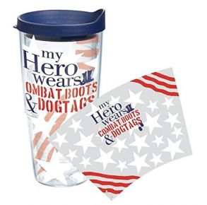 """""""My Hero Wears Combat Boots & Dog Tags"""" Tervis Tumbler With Lid - 24 oz"""