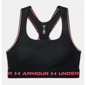 Under Armour Womens Armour Mid Crossback 80s Sports Bra Front View