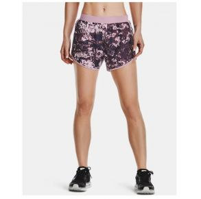 Under Armour Womens UA Fly-By 2.0 Printed Shorts Front view