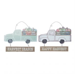 Transpac MDF Fall Harvest Wall Decor Front View