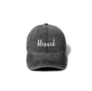 David and Young Blessed Baseball Cap - Black Front View
