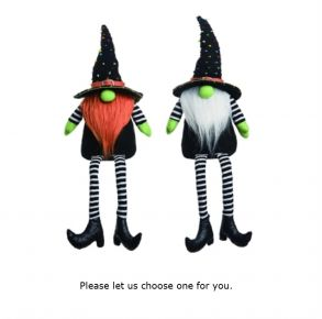 Transpac Halloween Gnome Sitters Front View