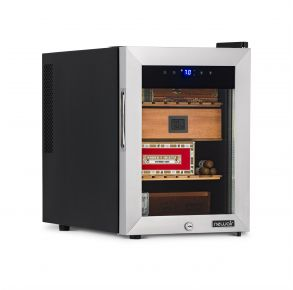 NewAir 250 Count Thermoelectric Cigar Humidor with Heating & Cooling left angle stocked view