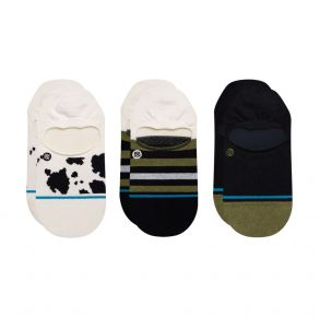 Stance Cow Fuzz No Show Socks - 3 Pack Front View