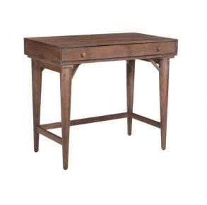 Coast to Coast Accents One Drawer Writing Desk - Baylor Brown Angle View