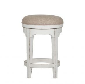 Liberty Furniture Industries, Inc. Magnolia Manor Console Swivel Stool - White Front View