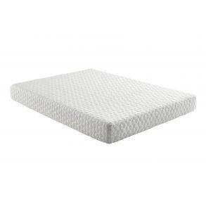 "Grey Early Bird 8"" Medium Memory Foam Mattress - Size Queen full angle view"
