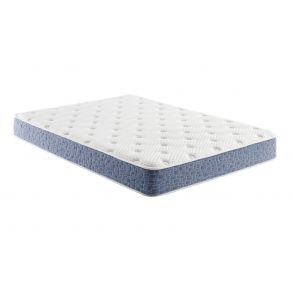 """American Bedding 8"""" Firm Hybrid Memory Foam and Spring Mattress - King - White/Blue full view"""