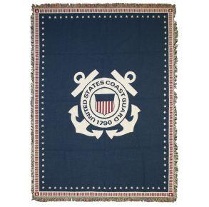 Coast Guard Woven Cotton Blanket