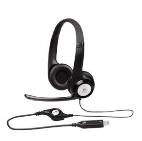 Logitech H390 USB Headset with Noise Cancelling Mic - Black Left View