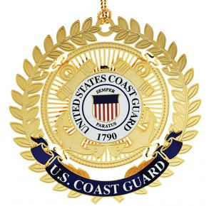 USCG Logo Ornament Filligree Leaves