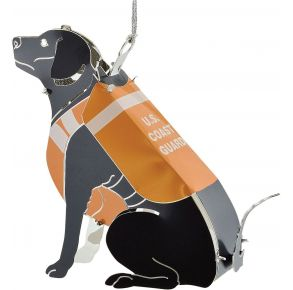 Coast Guard ChemArt Ornament - Onyx Front View