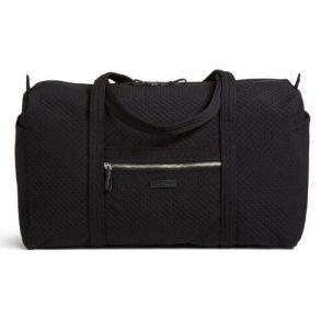 Vera Bradley Iconic Large Travel Duffel Bag - Classic Black Front View