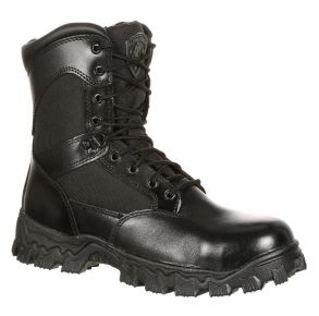 Rocky Mens AlphaForce Zipper Black Composite Toe Duty Boot Right View