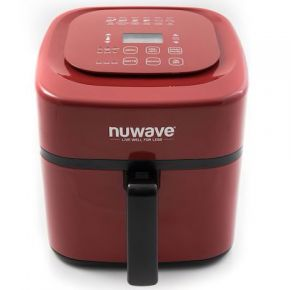NuWave Brio Digital Air Fryer - 6 Qt.- Red Front View