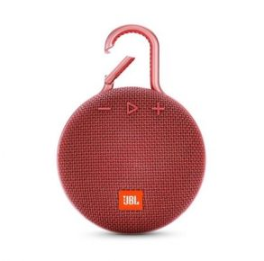 JBL Clip 3 Portable Bluetooth Speaker - Red Front View