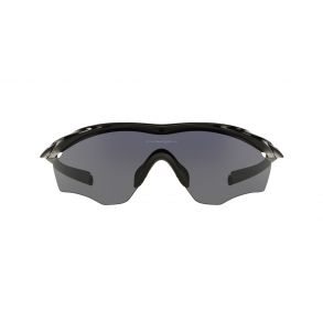 Oakley Mens M2 Frame XL Polished Black Frame - Gray Lens - Non Polarized Sunglasses Front view