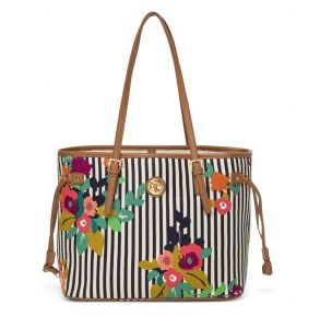 Spartina 449 Shelter Cove Jetsetter Tote Handbag Front View