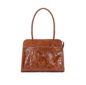 Patricia Nash Paris Large Satchel Handbag - Tooled Florence Front View
