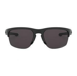Oakley Standard Issue Sliver Edge Matte Black Frame - Prizm Gray Lens - Polarized Sunglasses Front View