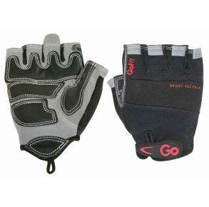GoFit Sport-Tac Pro Trainer Glove  - Medium - Black/Red Front & Back of Set View