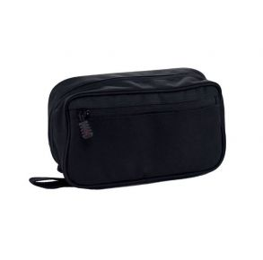 Flying Circle Concho Hanging Toiletry Bag - Black Front View