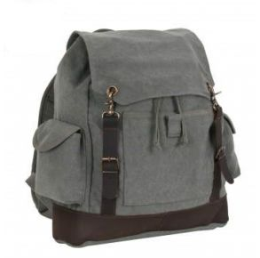 Rothco Vintage Expedition Rucksack - Charcoal Gray Front View
