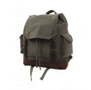Rothco Vintage Expedition Rucksack - Olive Drab Front View