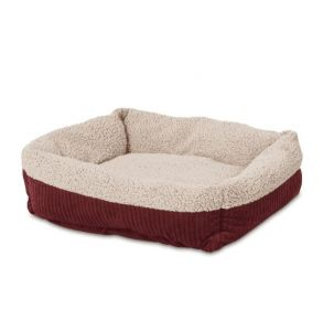 Aspen Pet Self Warming Rectangular Lounger 24 X 20 Pet Bed Front View