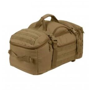 Rothco 3-In-1 Convertible Mission Bag - Coyote Brown Front Flat Top Right Side Angle View